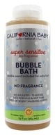 California Baby - Aromatherapy Bubble Bath With Bubble Wand Super Sensitive No Fragrance - 13 oz., from category: Personal Care