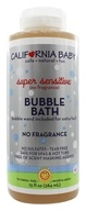 Image of California Baby - Aromatherapy Bubble Bath With Bubble Wand Super Sensitive No Fragrance - 13 oz.