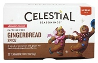 Image of Celestial Seasonings - Gingerbread Spice Holiday Herb Tea Caffeine Free - 20 Tea Bags