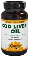 Image of Country Life - Cod Liver Oil - 250 Softgels