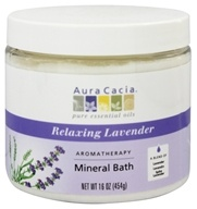 Aura Cacia - Aromatherapy Mineral Bath Lavender Harvest - 16 oz., from category: Aromatherapy