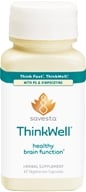 Savesta - ThinkWell with PS & Vinpocetine - 60 Vegetarian Capsules Formerly Ayurceutics