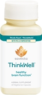 Image of Savesta - ThinkWell with PS & Vinpocetine - 60 Vegetarian Capsules Formerly Ayurceutics