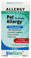 bioAllers - Pet Allergy - 60 Tablets, from category: Homeopathy