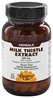 Country Life - Milk Thistle Extract 200 mg. - 60 Vegetarian Capsules (015794092780)