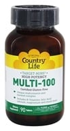 Country Life - Multi-100 High Potency Time Release - 90 Tablets - $19.19