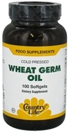 Country Life - Wheat Germ Oil Cold Pressed - 100 Softgels, from category: Nutritional Supplements