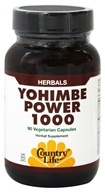 Biochem by Country Life - Yohimbe Power 1000 mg. - 90 Vegetarian Capsules, from category: Herbs