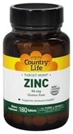 Country Life - Target-Mins Zinc 50 mg. - 180 Tablets, from category: Vitamins & Minerals