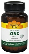 Country Life - Target-Mins Zinc 50 mg. - 180 Tablets