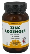 Country Life - Zinc Lozenges with Vitamin C Cherry Flavor - 60 Lozenges CLEARANCE PRICED, from category: Vitamins & Minerals