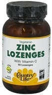 Country Life - Zinc Lozenges with Vitamin C Lemon Flavor - 60 Lozenges, from category: Vitamins & Minerals
