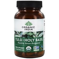 Image of Organic India - Tulsi-Holy Basil Anti-Stress Anti-Aging - 90 Vegetarian Capsules