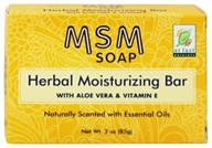 At Last Naturals - MSM Herbal Moisturizing Bar Soap - 3 oz. Formerly Born Again