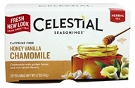 Celestial Seasonings - Honey Vanilla Chamomile Herb Tea Caffeine Free - 20 Tea Bags, from category: Teas