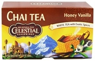 Celestial Seasonings - Honey Vanilla White Chai - 20 Tea Bags (070734055058)