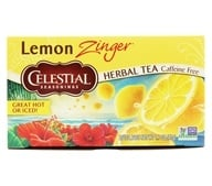 Celestial Seasonings - Zinger Herbal Tea Caffeine Free Lemon - 20 Tea Bags
