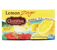 Celestial Seasonings - Lemon Zinger Herb Tea Caffeine Free - 20 Tea Bags (070734053177)