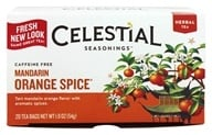Image of Celestial Seasonings - Mandarin Orange Spice Herb Tea Caffeine Free - 20 Tea Bags