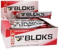 Clif Bar - Shot Bloks Electrolyte Chews Strawberry Flavor - 6 Chews (722252180629)