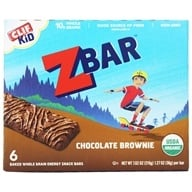Clif Bar - Kid Z-Bar Organic Chocolate Brownie - 6 Bars (722252192035)