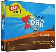 Clif Bar - Kid Z-Bar Organic Peanut Butter - 6 Bars (722252192028)