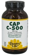 Country Life - Cap C-500 - 500 mg. - 180 Vegetarian Capsules, from category: Vitamins & Minerals
