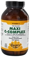 Country Life - Maxi C-Complex Vitamin C Time Release 1000 mg. - 180 Vegetarian Tablets