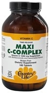 Country Life - Maxi C-Complex Vitamin C Time Release 1000 mg. - 180 Vegetarian Tablets by Country Life