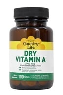 Country Life - Dry Vitamin A 10000 IU - 100 Tablets by Country Life