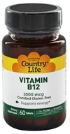 Country Life - Vitamin B12 Time Release 1000 mcg. - 60 Tablets (015794062912)