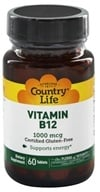 Country Life - Vitamin B12 Time Release 1000 mcg. - 60 Tablets, from category: Vitamins & Minerals