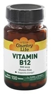 Country Life - Vitamin B-12 500 mcg. - 100 Tablets by Country Life