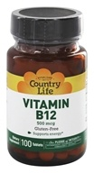 Country Life - Vitamin B-12 500 mcg. - 100 Tablets (015794062516)