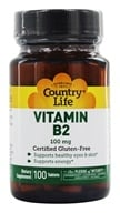 Image of Country Life - Vitamin B-2 100 mg. - 100 Tablets