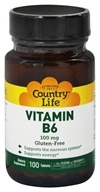 Country Life - Vitamin B-6 100 mg. - 100 Tablets, from category: Vitamins & Minerals
