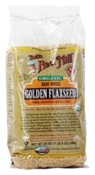 Bob's Red Mill - Golden Flaxseed Raw Whole Organic - 24 oz. (039978009395)
