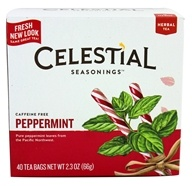 Image of Celestial Seasonings - Peppermint Herb Tea Caffeine Free - 40 Tea Bags