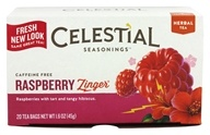 Celestial Seasonings - Raspberry Zinger Herb Tea Caffeine Free - 20 Tea Bags