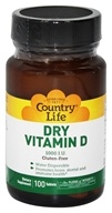 Country Life - Dry Vitamin D 1000 IU - 100 Vegetarian Tablets by Country Life