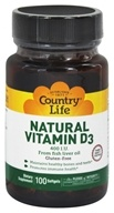 Country Life - Natural Vitamin D3 From Fish Liver Oil 400 IU - 100 Softgels by Country Life