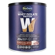 100 % Whey Isolate Protein Powder Chocolate - 30.9 oz. by BioChem by Country Life