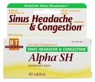 Boericke & Tafel - Alpha SH Sinus Headache & Congestion - 40 Tablets by Boericke & Tafel