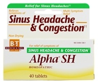 Boericke & Tafel - Alpha SH Sinus Headache & Congestion - 40 Tablets - $7.53