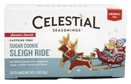 Image of Celestial Seasonings - Sugar Cookie Sleigh Ride Holiday Herb Tea - 20 Tea Bags DAILY DEAL