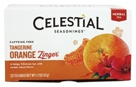 Celestial Seasonings - Tangerine Orange Zinger Herb Tea Caffeine Free - 20 Tea Bags