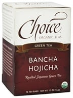 Choice Organic Teas - Bancha Hojicha Toasted Green Tea - 16 Tea Bags (047445919412)