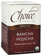 Choice Organic Teas - Bancha Hojicha Toasted Green Tea - 16 Tea Bags, from category: Teas