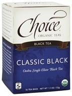 Choice Organic Teas - Black Tea Classic Black - 16 Tea Bags (Formerly Orange Pekoe Cut)