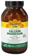 Country Life - Target-Mins Calcium-Magnesium Complex 1000 mg - 500 mg - 180 Tablets (015794024811)